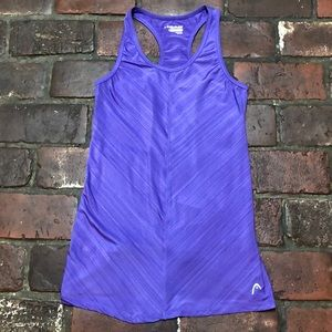 Head Athletic Tank Top Purple Size Small